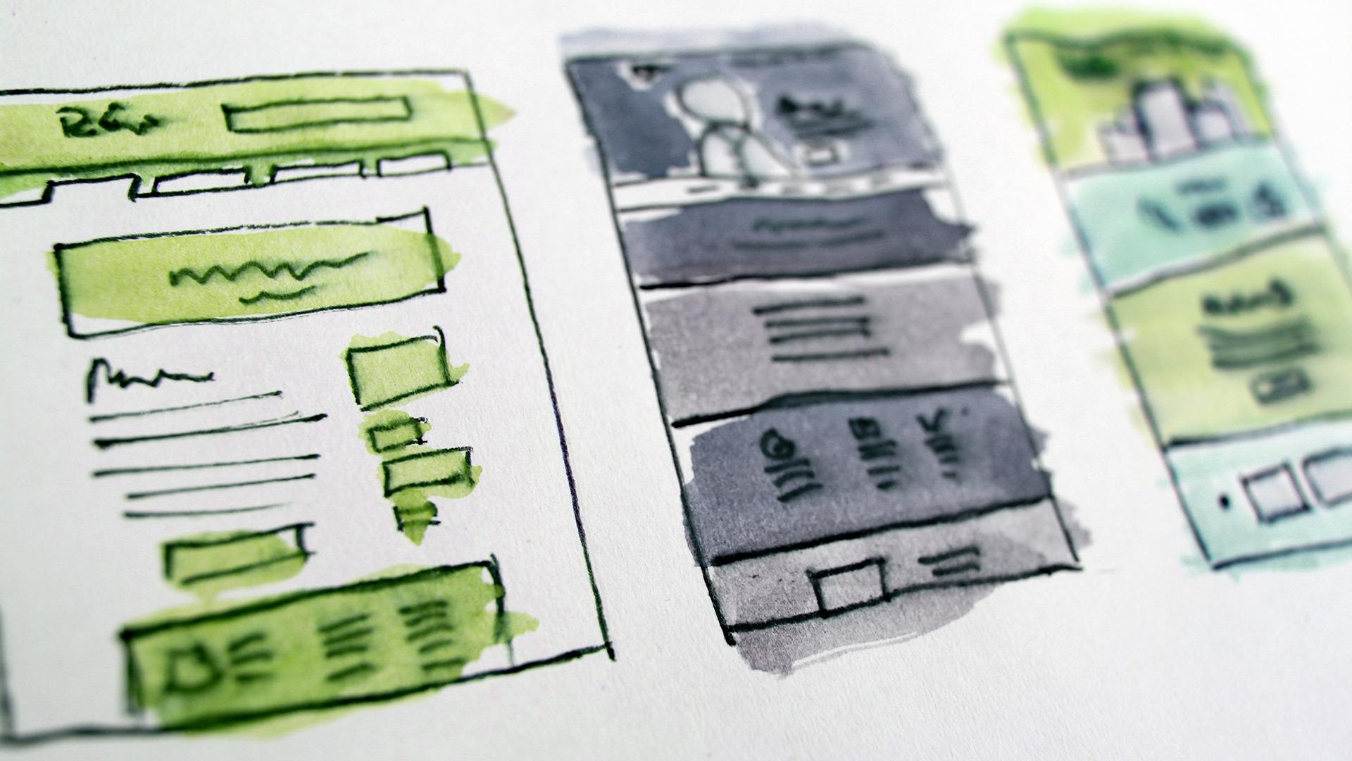 Esquisse de design web UX et UI design