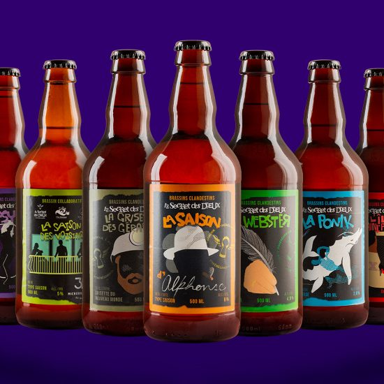 Étiquette bière Secret des Dieux